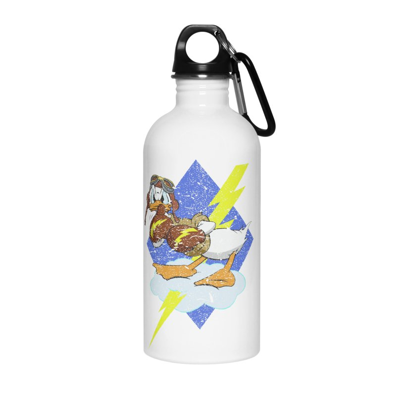 WW II  Bomber Squadron distressed design Accessories Water Bottle by goofyink's Artist Shop