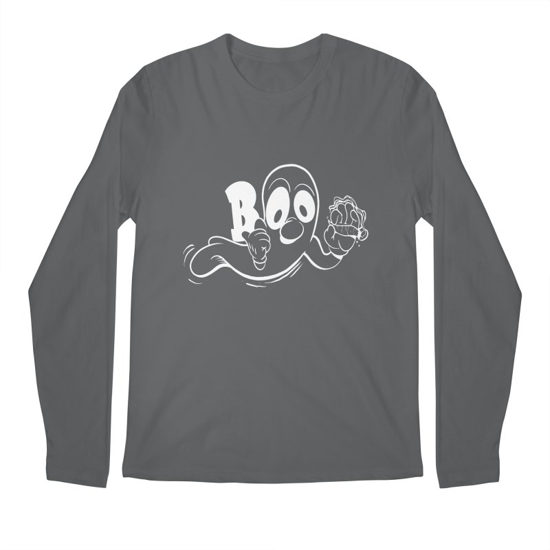 smoking ghost Men's Regular Longsleeve T-Shirt by goofyink's Artist Shop