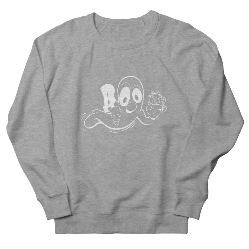 smoking ghost Men's French Terry Sweatshirt by goofyink's Artist Shop