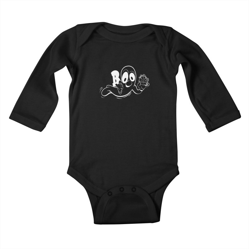 smoking ghost Kids Baby Longsleeve Bodysuit by goofyink's Artist Shop