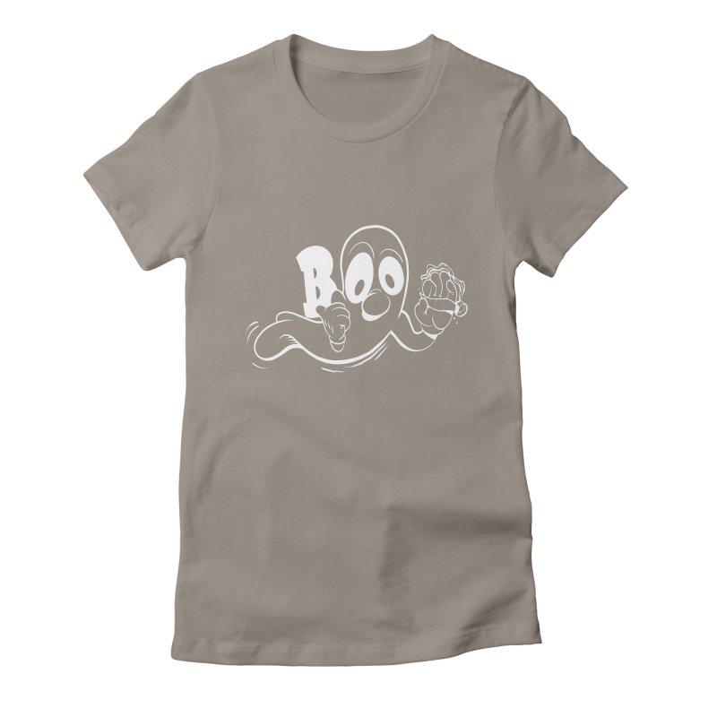 smoking ghost Women's T-Shirt by goofyink's Artist Shop