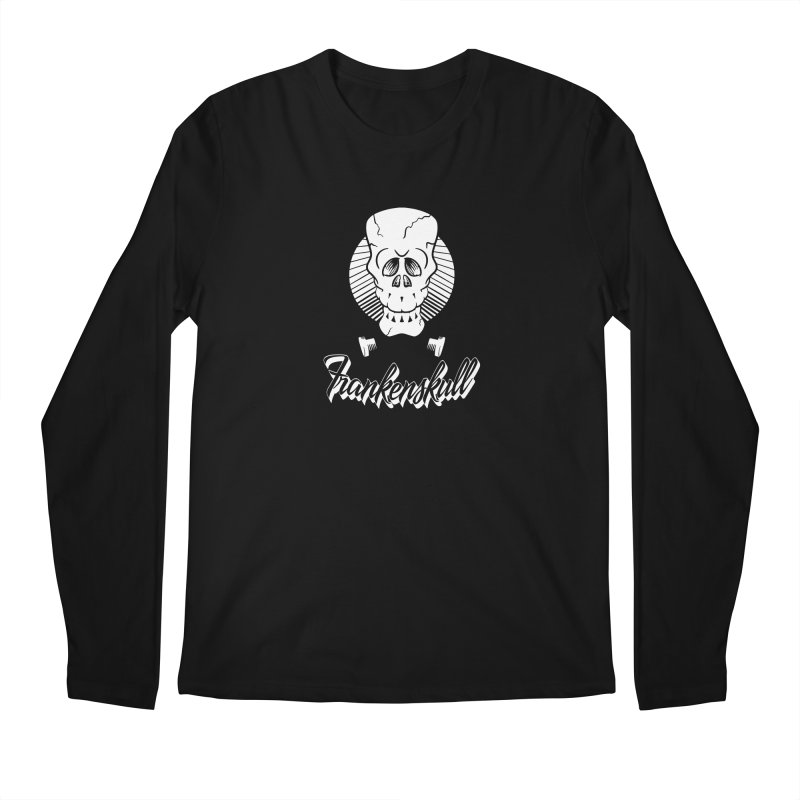 Frankenskull Men's Regular Longsleeve T-Shirt by goofyink's Artist Shop