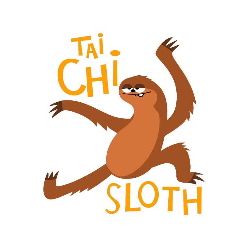 tai chi sloth by Goopymart + Threadless