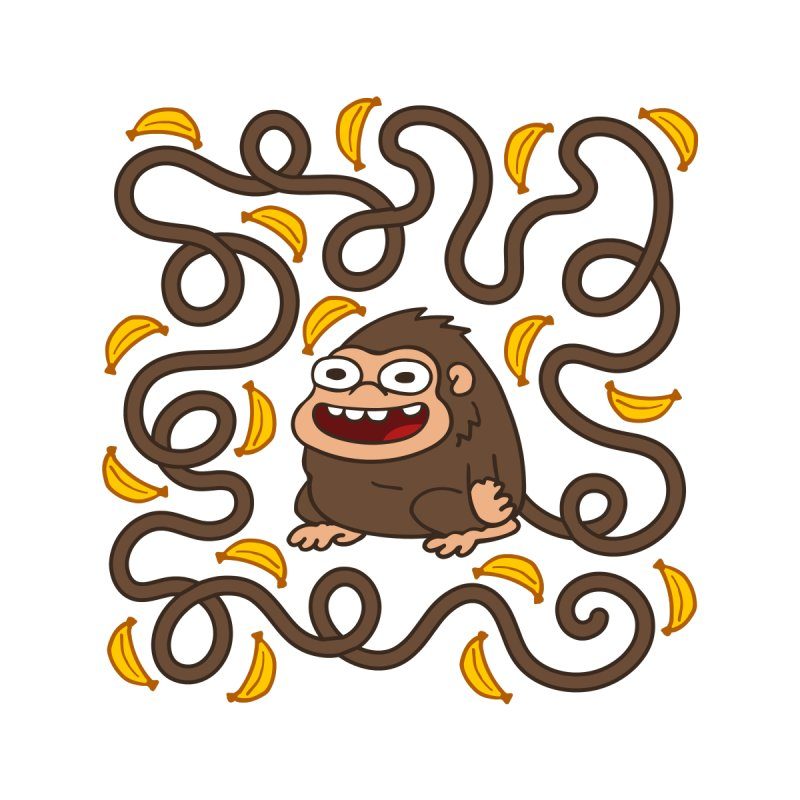 Wild Monkey Tail None  by Goopymart + Threadless
