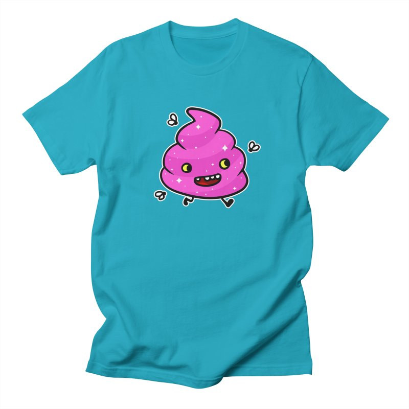 Pink Happy Poop Men's T-Shirt by Goopymart + Threadless