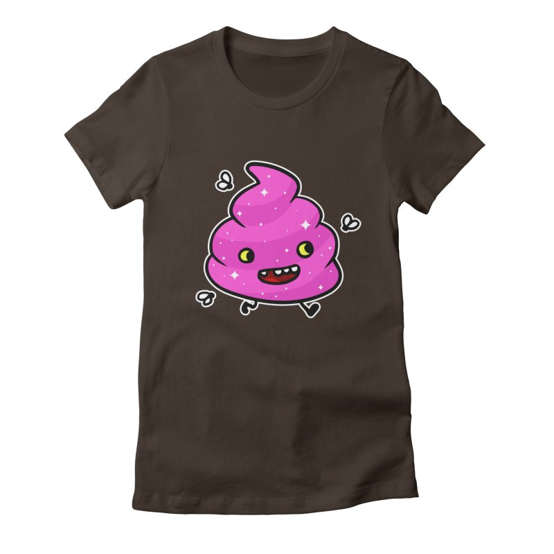 Pink Happy Poop Women's Fitted T-Shirt by Goopymart + Threadless
