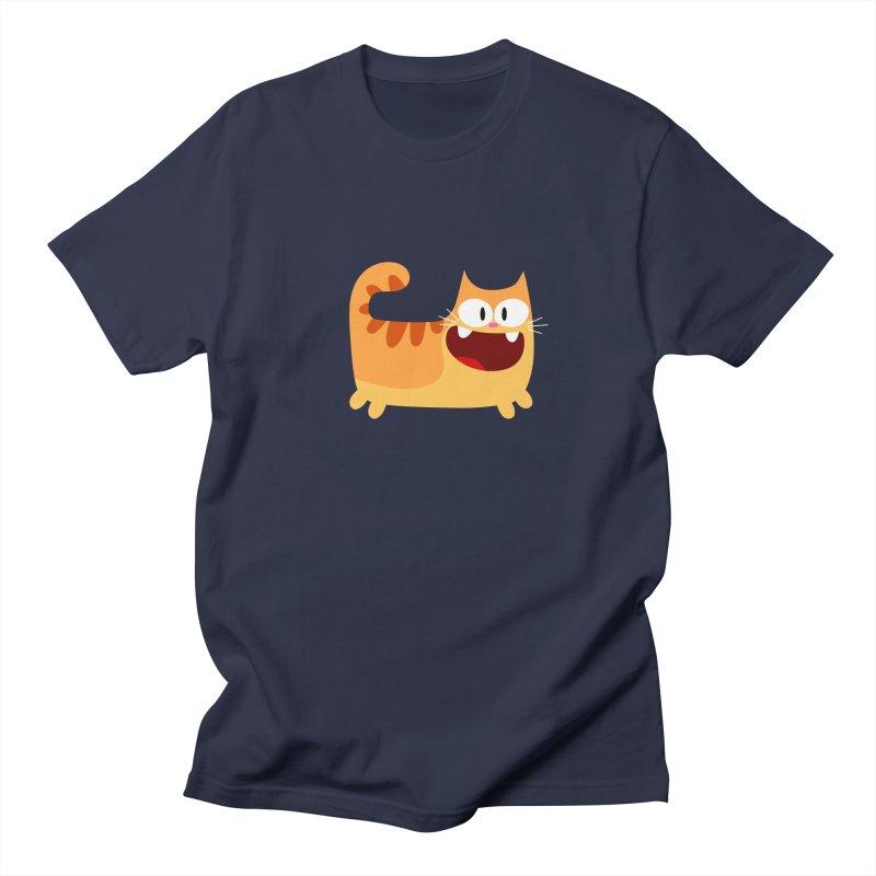 Hey Cat-Orange Men's T-shirt by Goopymart + Threadless