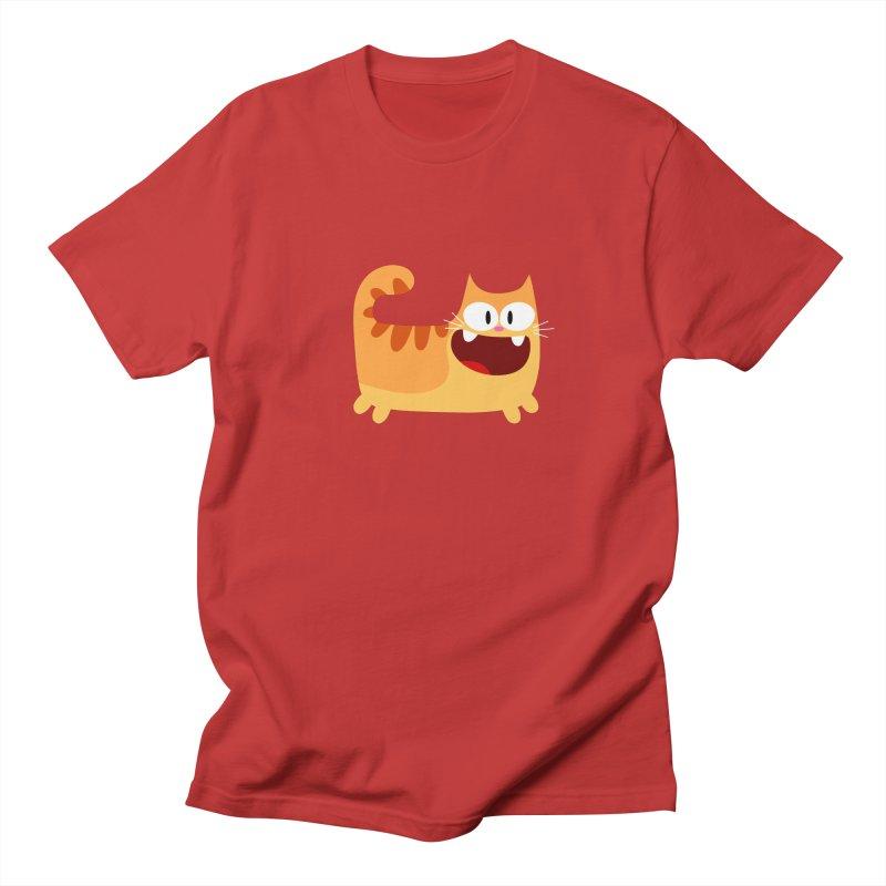 Hey Cat-Orange Men's Regular T-Shirt by Goopymart + Threadless