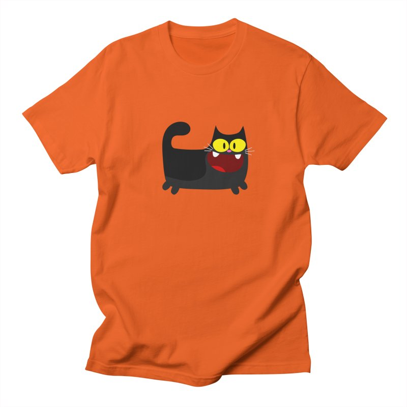 Hey Cat-Black Men's T-Shirt by Goopymart + Threadless