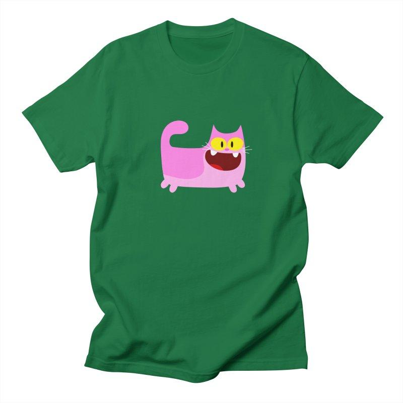 Hey Cat-Pink Men's T-shirt by Goopymart + Threadless