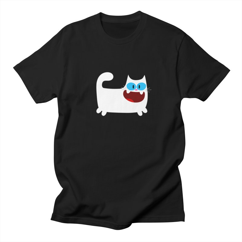 Hey Cat-White Men's T-Shirt by Goopymart + Threadless