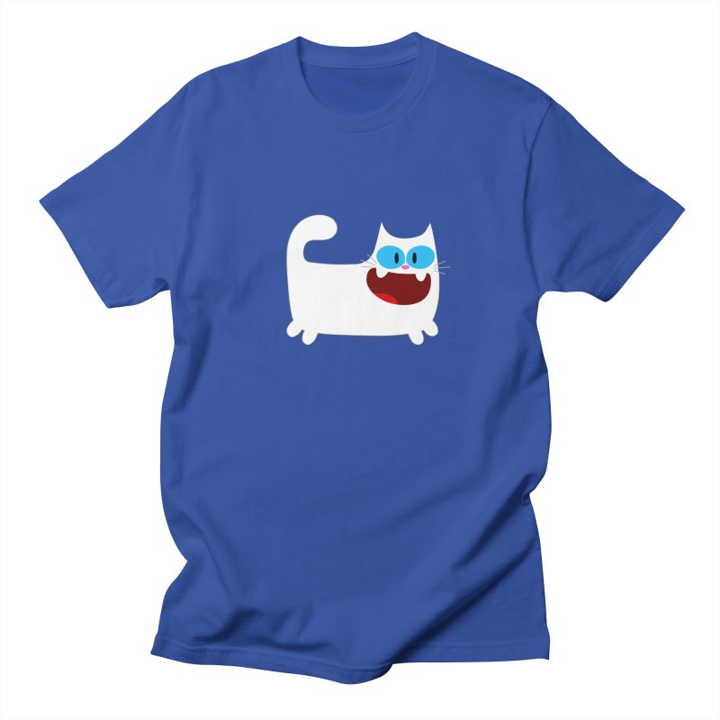 Hey Cat-White Men's Regular T-Shirt by Goopymart + Threadless