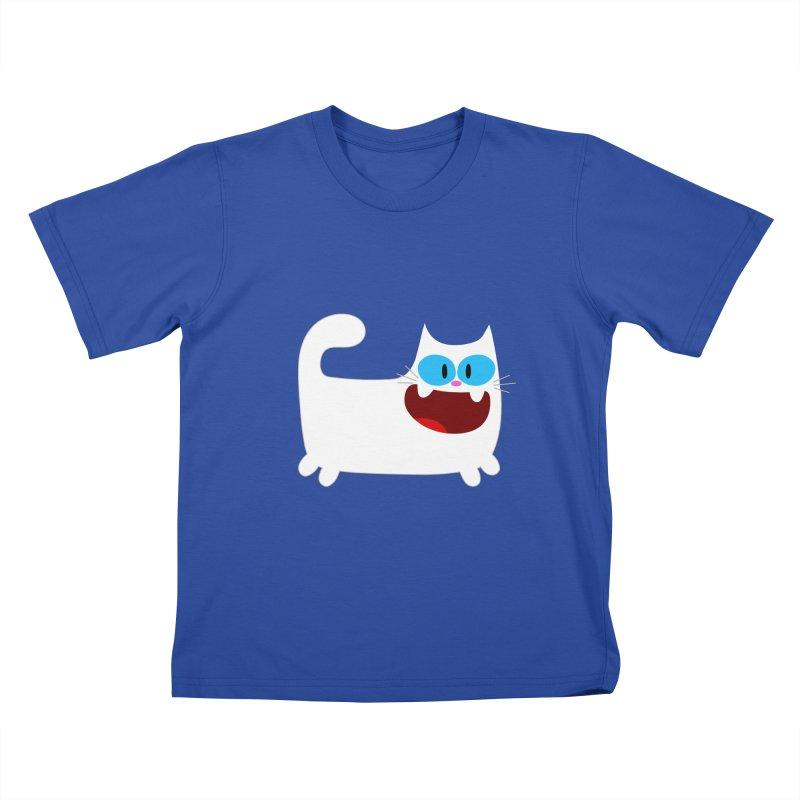 Hey Cat-White Kids T-Shirt by Goopymart + Threadless