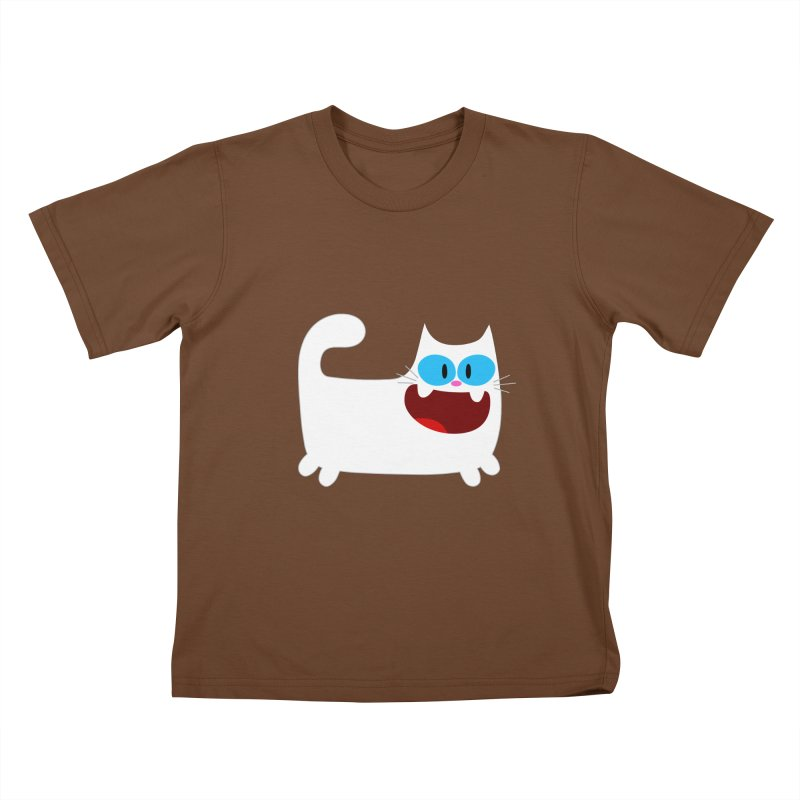 Hey Cat-White Kids T-shirt by Goopymart + Threadless