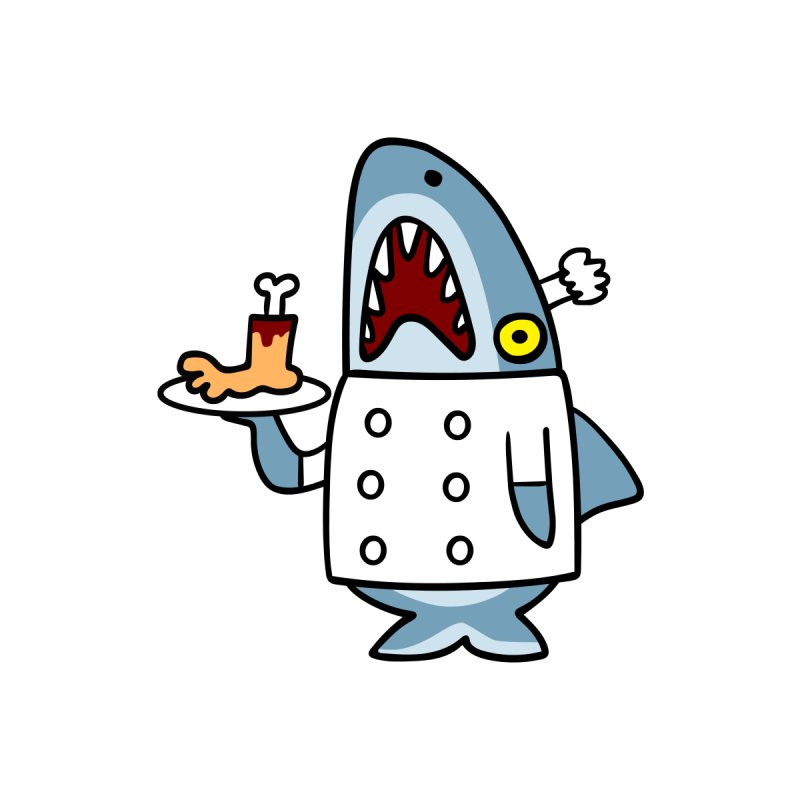 Chef Shark None  by Goopymart + Threadless