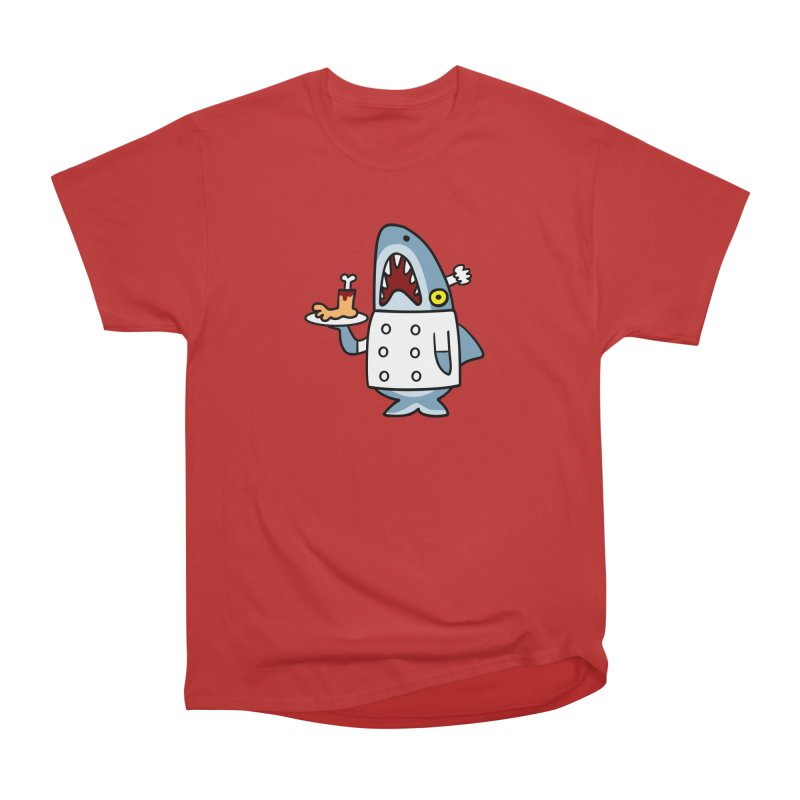 Chef Shark Men's Heavyweight T-Shirt by Goopymart + Threadless