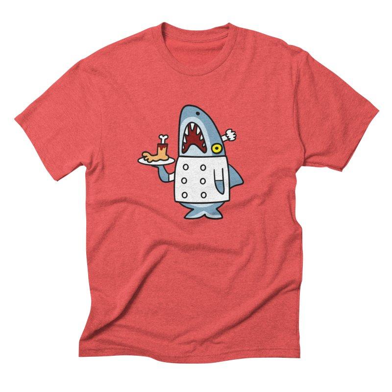 Chef Shark Men's Triblend T-shirt by Goopymart + Threadless