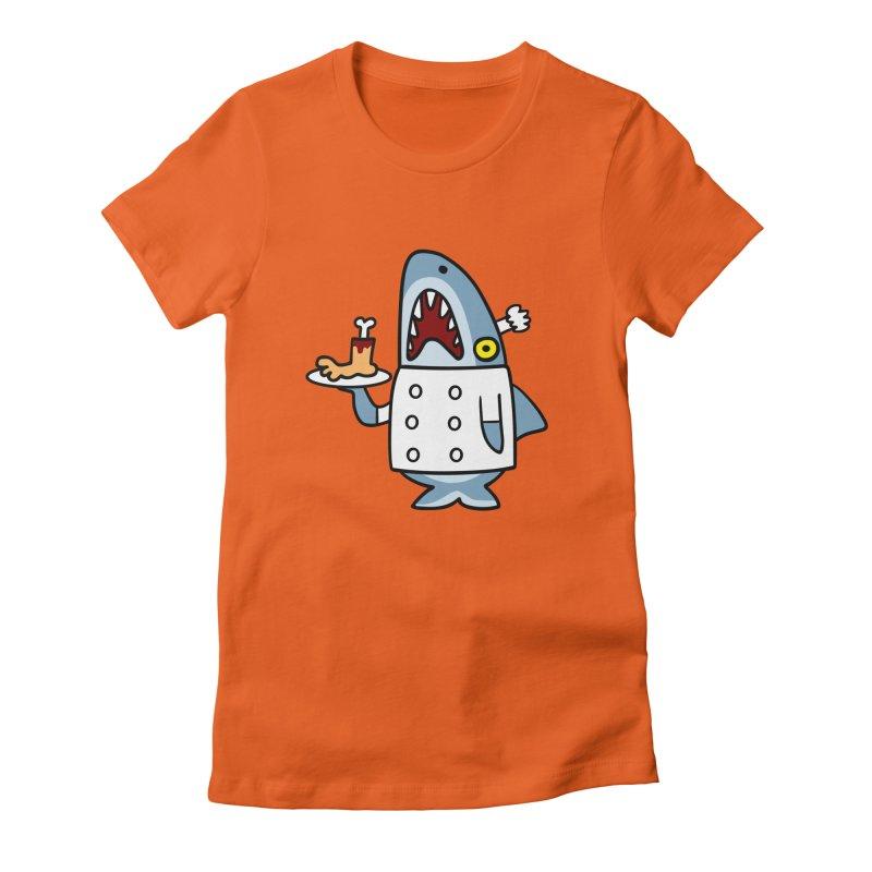 Chef Shark Women's Fitted T-Shirt by Goopymart + Threadless