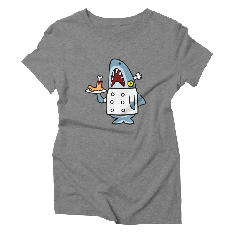 Chef Shark Women's Triblend T-shirt by Goopymart + Threadless