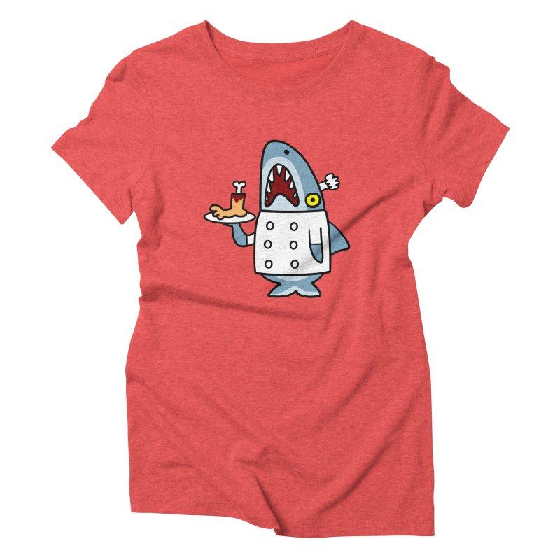 Chef Shark Women's Triblend T-Shirt by Goopymart + Threadless
