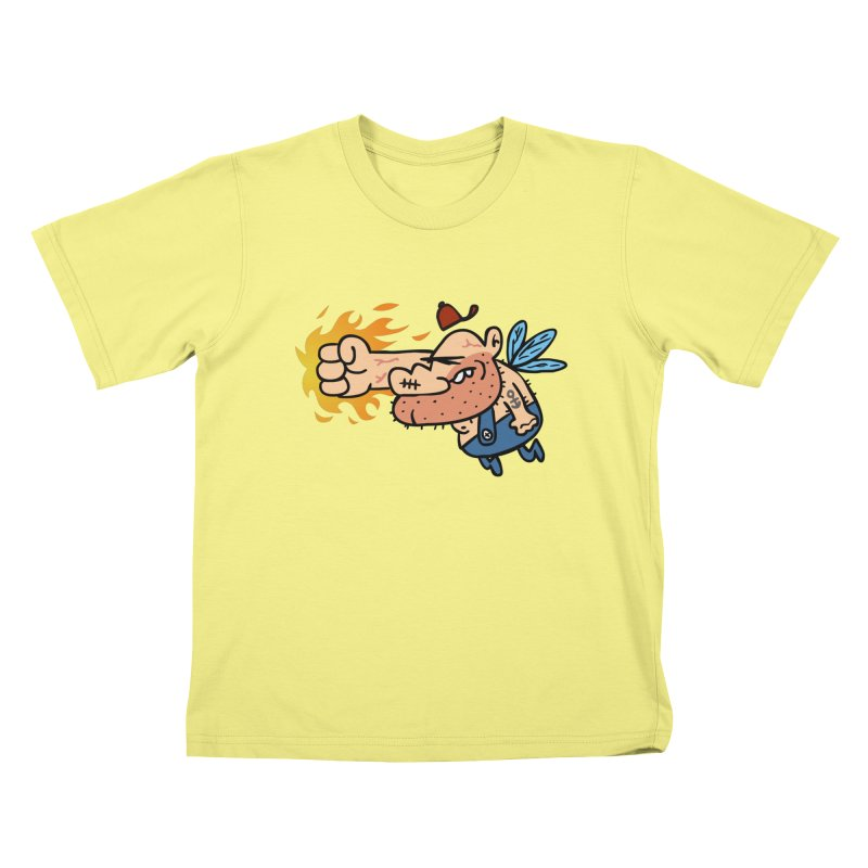 punch in the face fairy Kids T-shirt by Goopymart + Threadless
