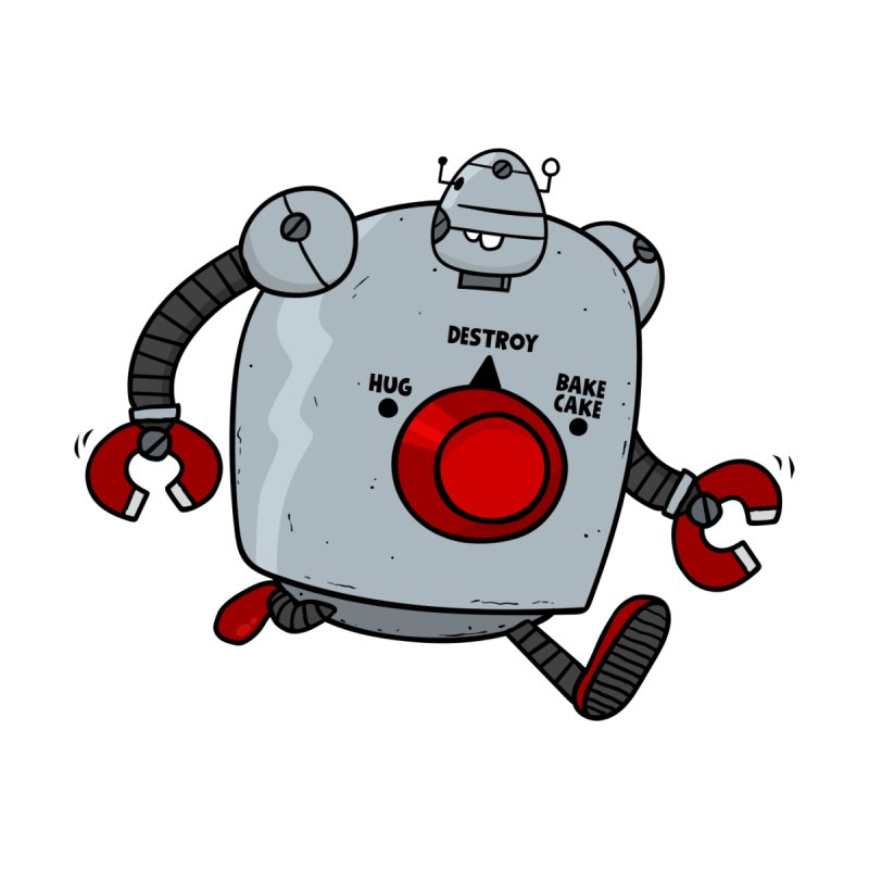 Roton the Robot None  by Goopymart + Threadless