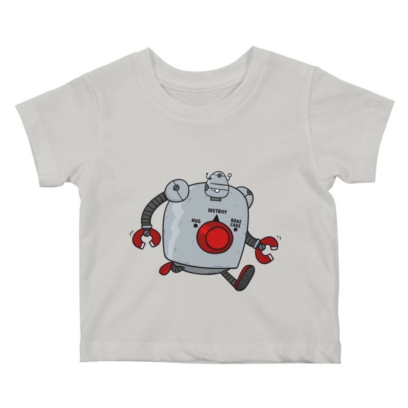 Roton the Robot Kids Baby T-Shirt by Goopymart + Threadless
