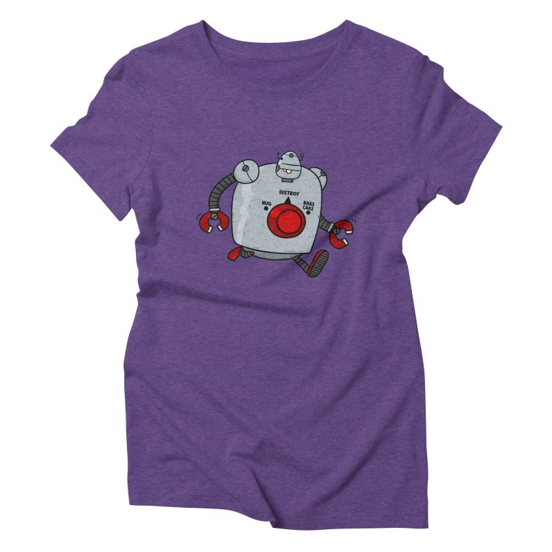 Roton the Robot Women's Triblend T-Shirt by Goopymart + Threadless