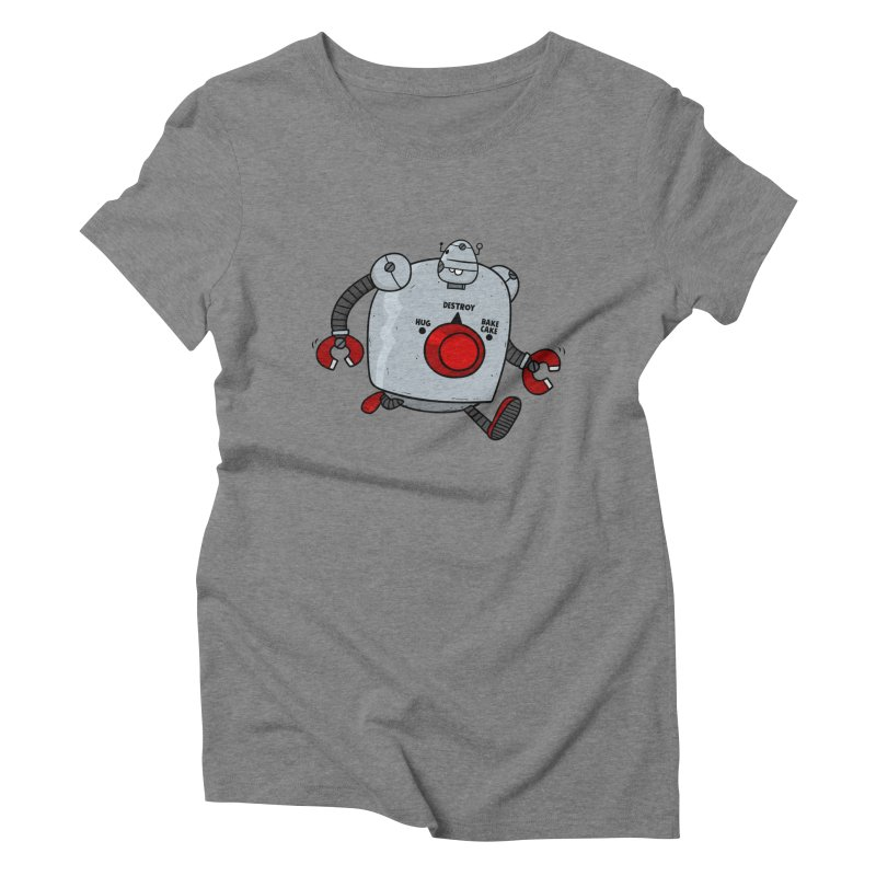 Roton the Robot Women's Triblend T-Shirt by Goopymart + Threadless