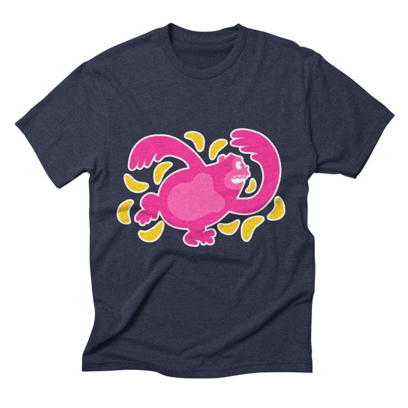 Pink Ape Men's Triblend T-shirt by Goopymart + Threadless