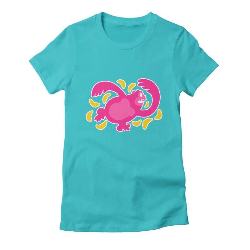 Pink Ape Women's Fitted T-Shirt by Goopymart + Threadless