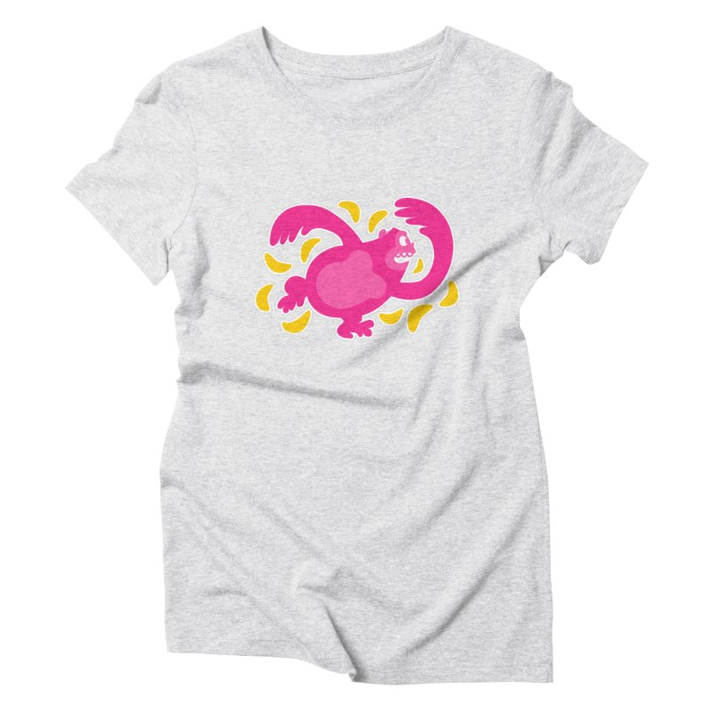 Pink Ape Women's Triblend T-Shirt by Goopymart + Threadless