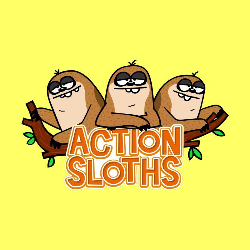 Action Sloths Kids T-Shirt by Goopymart + Threadless