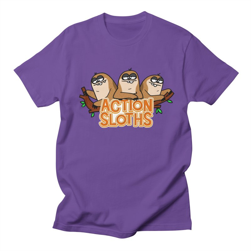 Action Sloths Men's T-shirt by Goopymart + Threadless