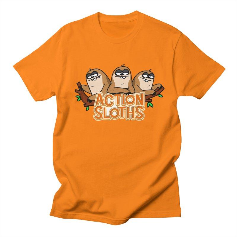 Action Sloths Men's T-Shirt by Goopymart + Threadless