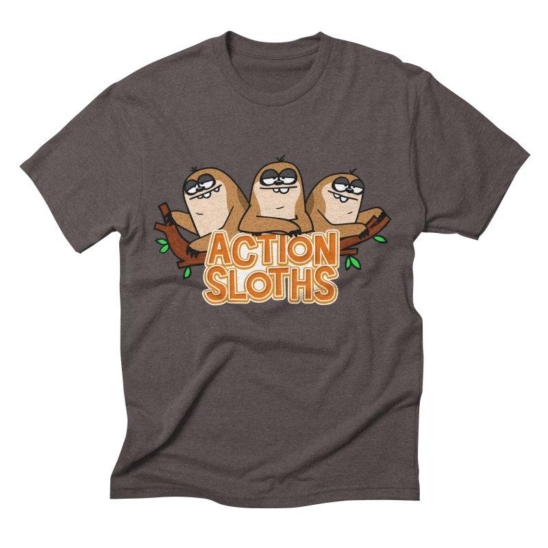 Action Sloths Men's Triblend T-shirt by Goopymart + Threadless