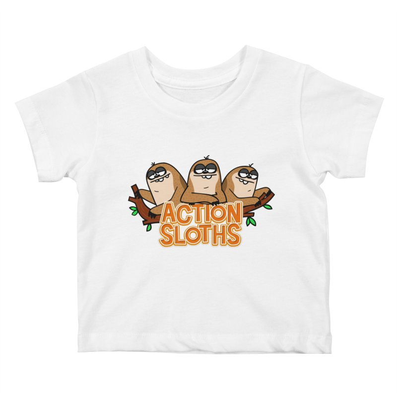 Action Sloths Kids Baby T-Shirt by Goopymart + Threadless