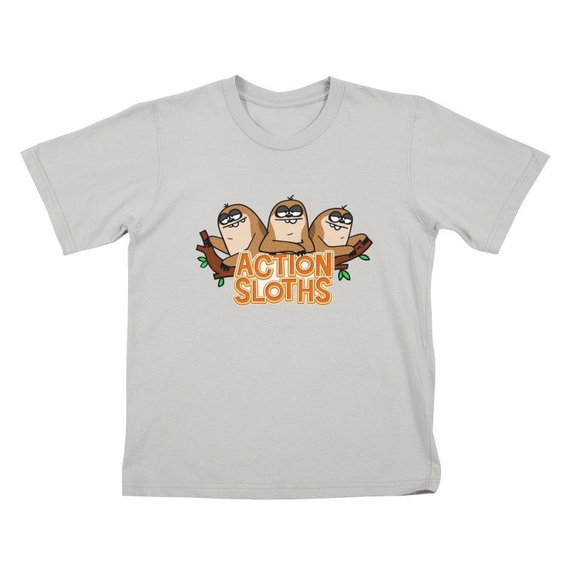 Action Sloths Kids T-shirt by Goopymart + Threadless