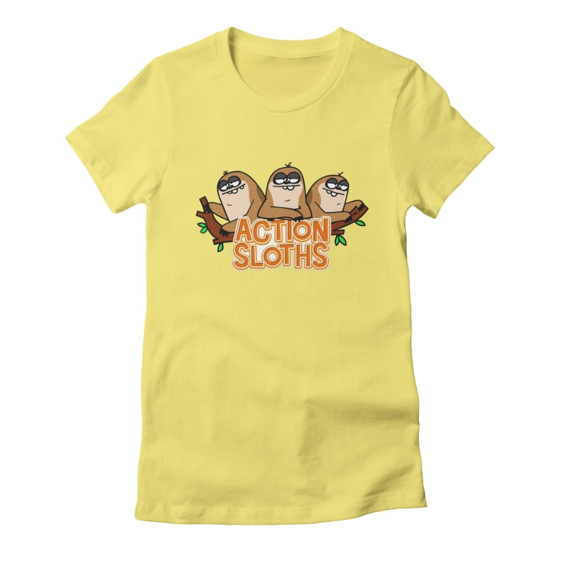 Action Sloths Women's Fitted T-Shirt by Goopymart + Threadless