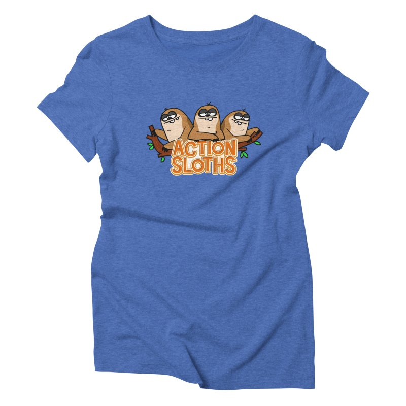 Action Sloths Women's Triblend T-shirt by Goopymart + Threadless