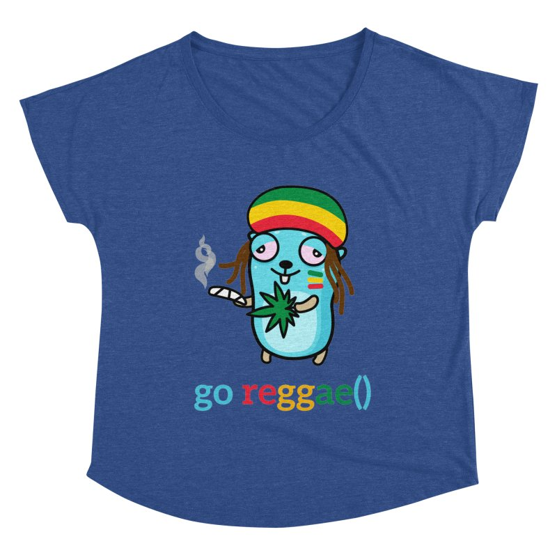 go reggae() Women's Scoop Neck by Be like a Gopher