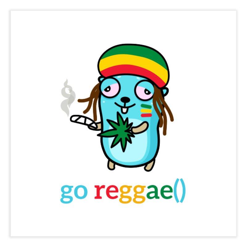 go reggae() Home Fine Art Print by Be like a Gopher