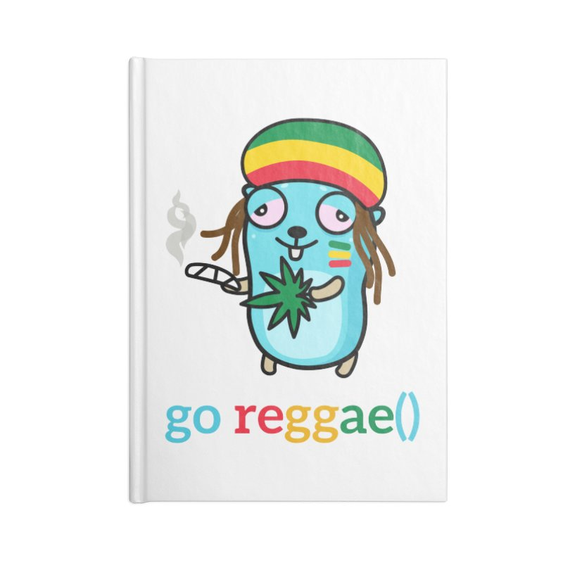 go reggae() Accessories Notebook by Be like a Gopher