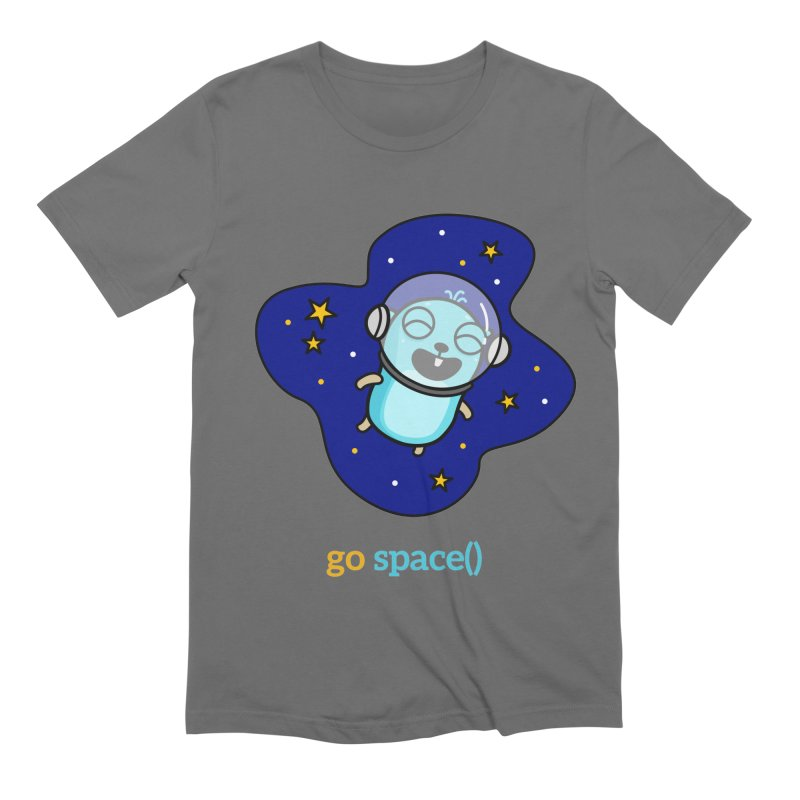 go space() Men's T-Shirt by Be like a Gopher