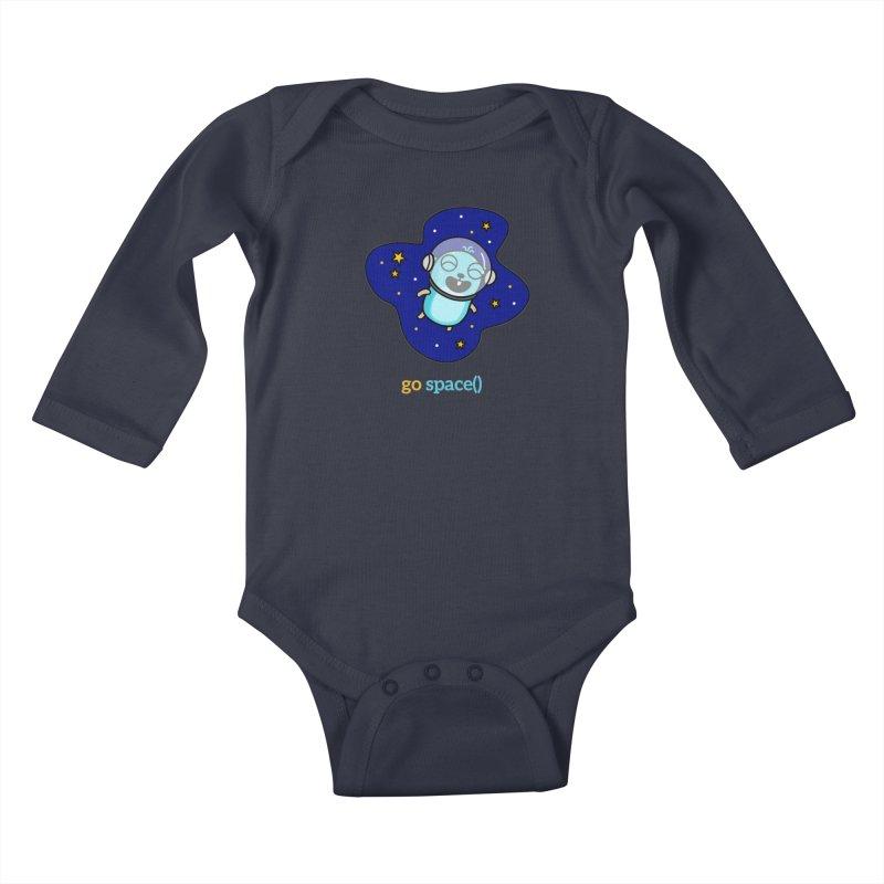 go space() Kids Baby Longsleeve Bodysuit by Be like a Gopher