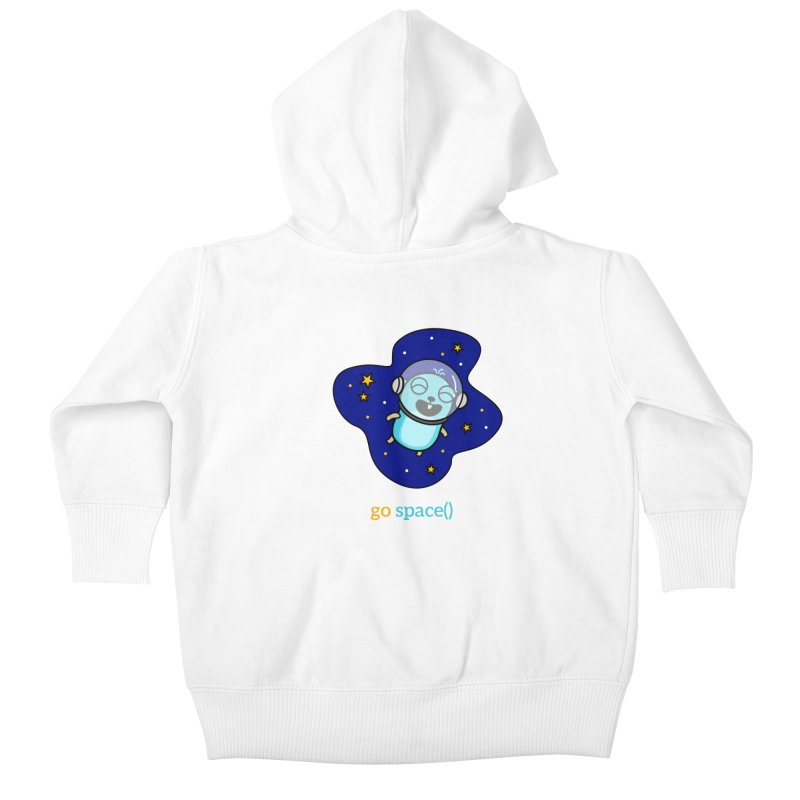 go space() Kids Baby Zip-Up Hoody by Be like a Gopher