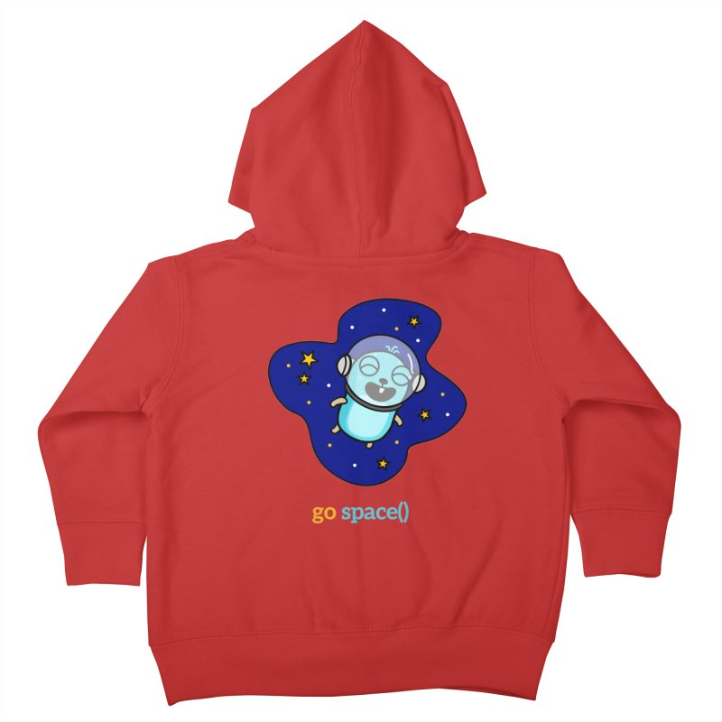 go space() Kids Toddler Zip-Up Hoody by Be like a Gopher
