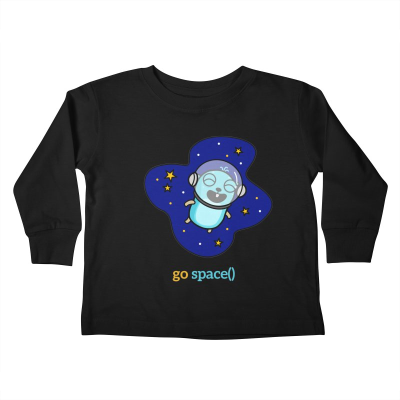 go space() Kids Toddler Longsleeve T-Shirt by Be like a Gopher