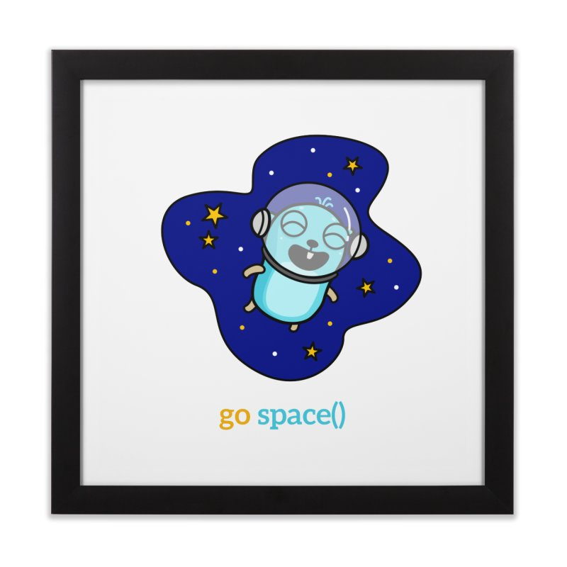 go space() Home Framed Fine Art Print by Be like a Gopher