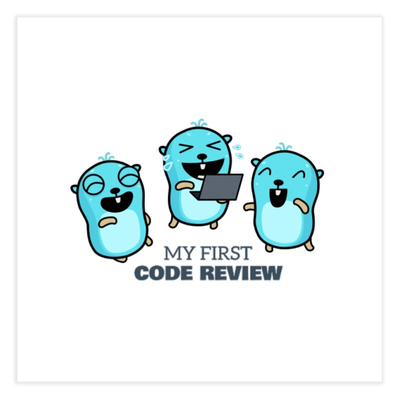 My first code review Home Fine Art Print by Be like a Gopher